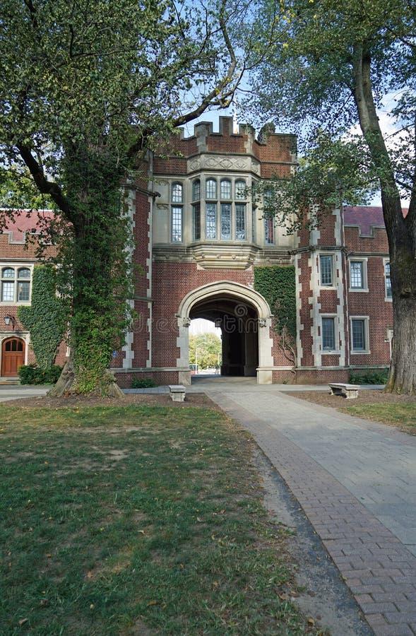 Università di Princeton - Edificio 1879 fotografie stock libere da diritti