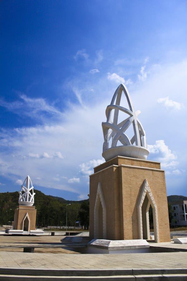 Università di Ramkhamhang del monumento in Tailandia fotografia stock libera da diritti