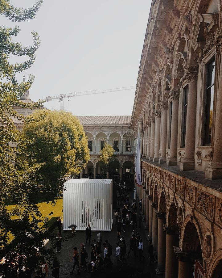 Università di Statale di Milano fotografie stock libere da diritti