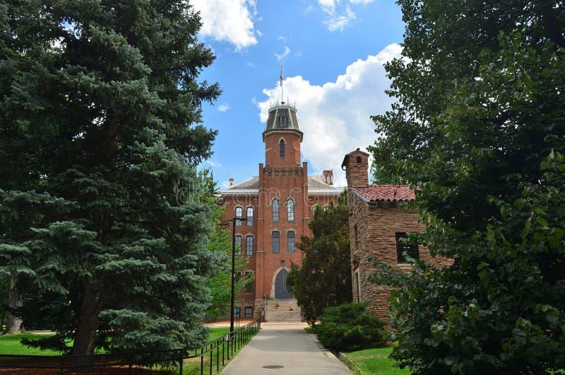 Università di vecchia costruzione principale di colorado Boulder fotografia stock