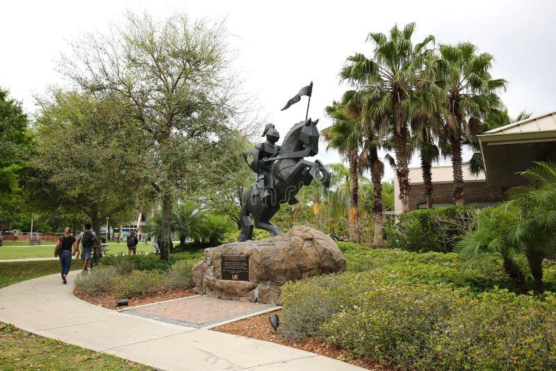 Università di Victory Knight Statue di Florida centrale fotografie stock libere da diritti