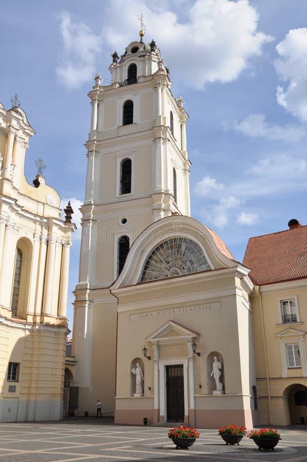 Università di Vilnius in Lituania fotografie stock libere da diritti