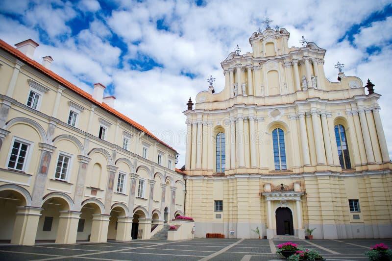 Università di Vilnius, Vilnius, Lituania fotografie stock libere da diritti