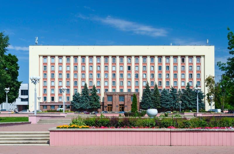 Università medica dello stato di Homiel', costruzione principale, via Lange 5 immagine stock