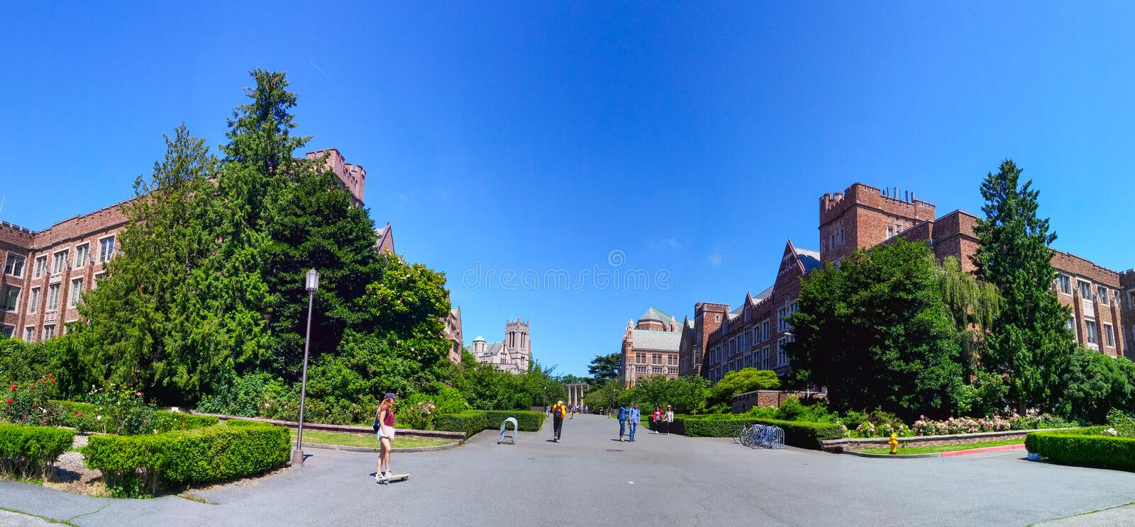 Università Seattle di Washington fotografia stock