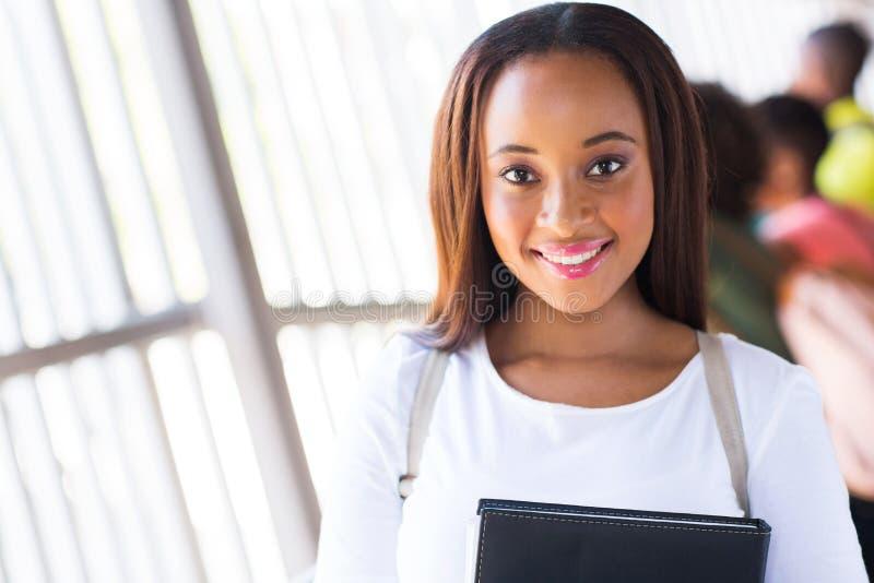 Universitária africana imagens de stock