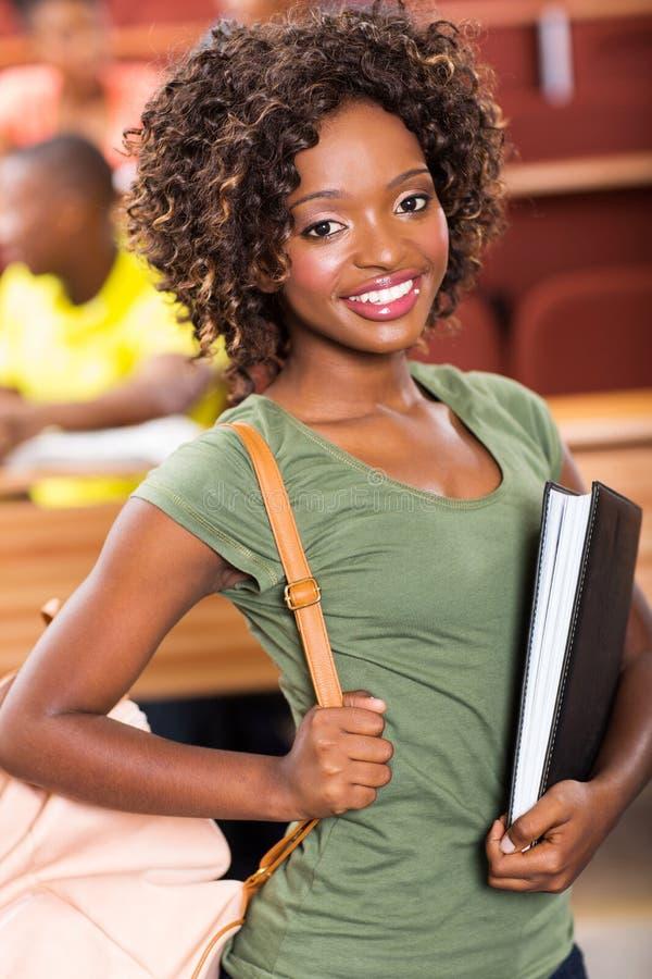 Universitária africana fotografia de stock royalty free
