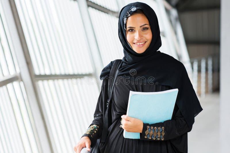Universitária islâmica fotografia de stock royalty free