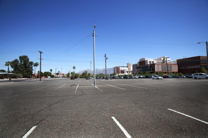 Universität des Arizona-Parkplatzes stockfotos