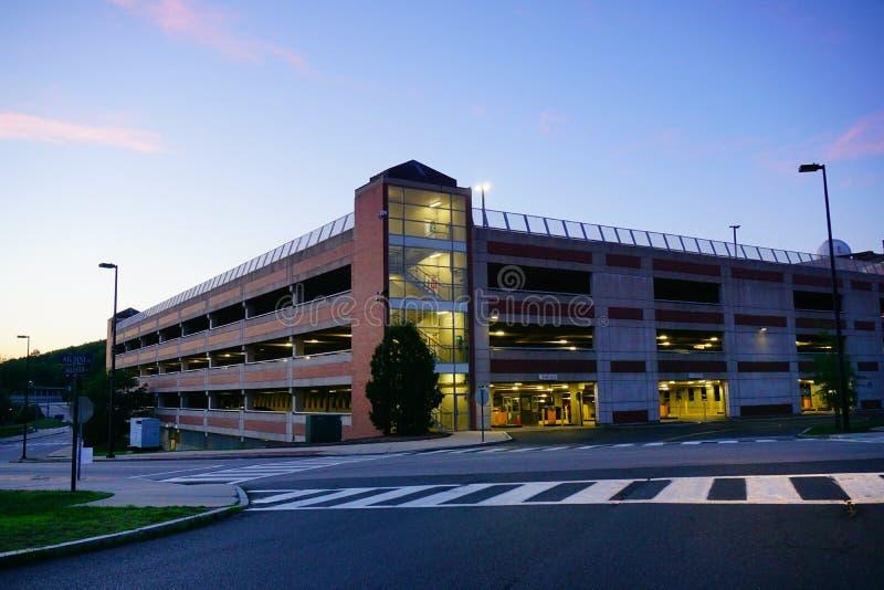 Universität des Connecticut-Parkplatzes lizenzfreie stockbilder