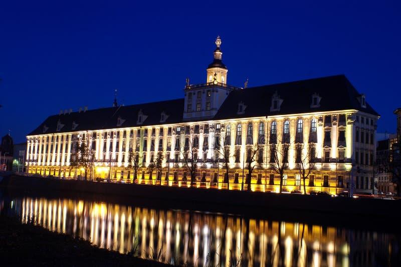 Universität im Wroclaw lizenzfreies stockfoto