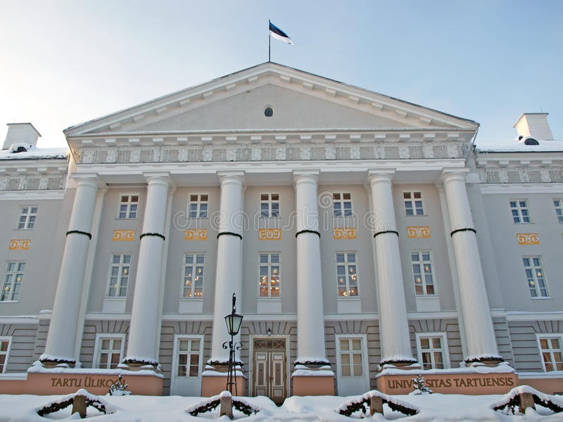 Universität in Tartu lizenzfreies stockfoto