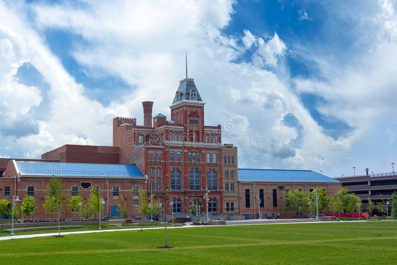 Universität von Colorado Denver, Volkshochschule von Denver und Stadtstaatliche universität der Denver-multicampusanlage herein stockbilder