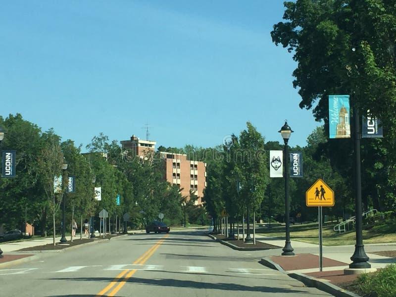 Universität von Connecticut-Hauptleitungscampus stockfotografie
