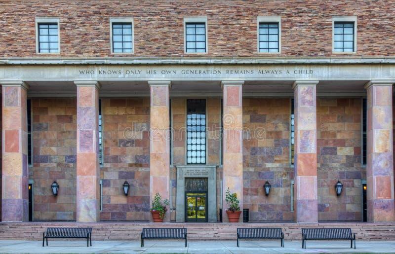 Universität von Kolorado in Boulder lizenzfreies stockfoto