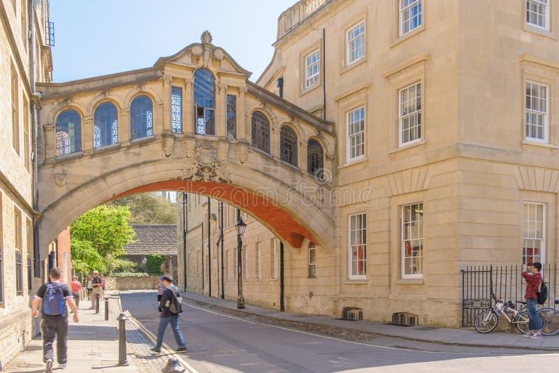 Universität von Oxford Hertford-Brücke stockfoto