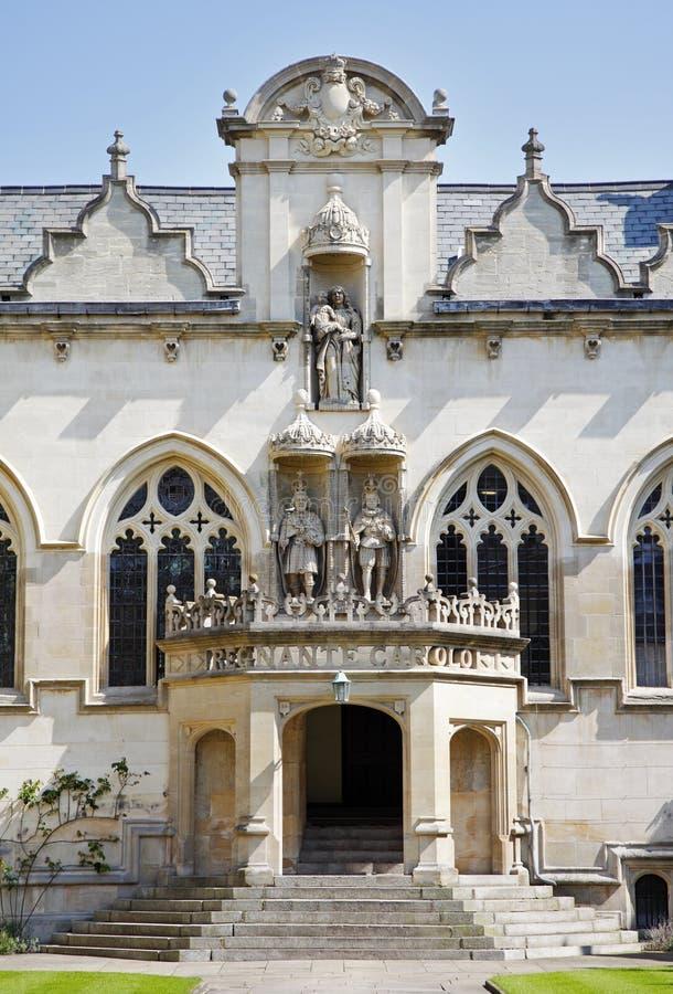 Universität von Oxfords-Gebäude in England stockbild