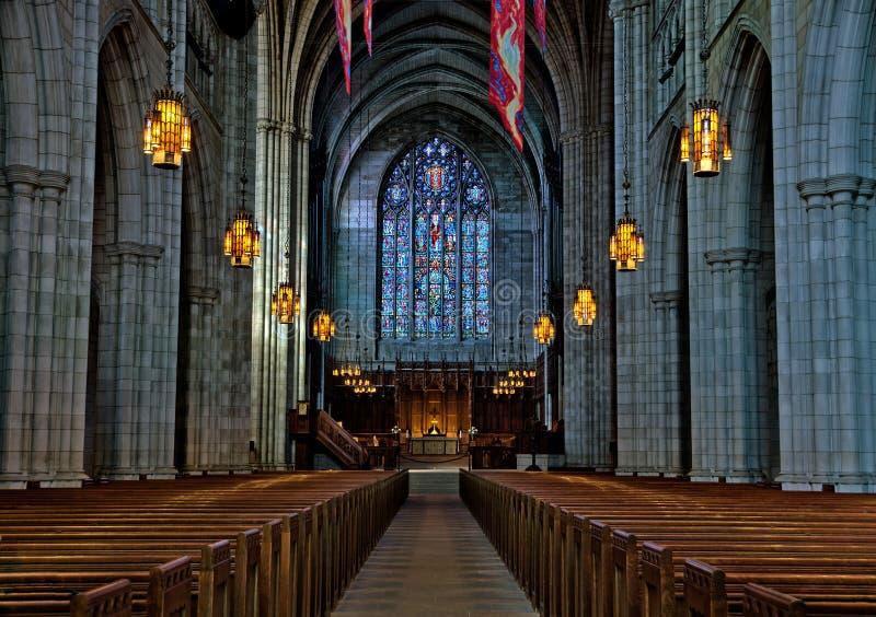 Universität von Princetons-Kapelleninnenraum lizenzfreie stockfotos