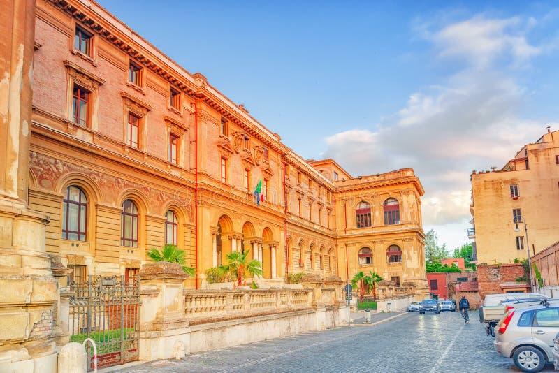 Universität von Rom-La Sapienza - Abteilung von mechanischem und von AE stockbild