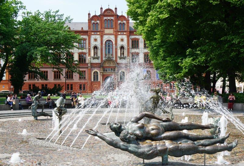 Universität von Rostock Deutschland stockfoto
