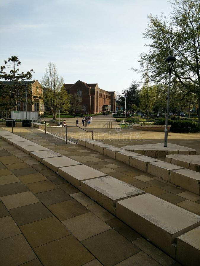 Universität von Southampton-Campus lizenzfreie stockfotografie