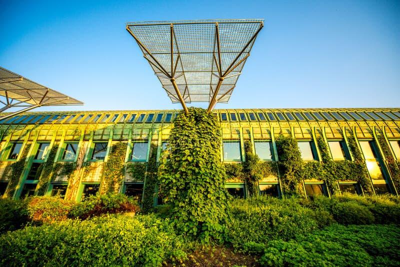 Universität von Warschau-Bibliothek in Polen stockbild