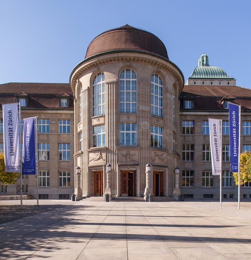 Universität von Zürich-Eingang lizenzfreies stockbild