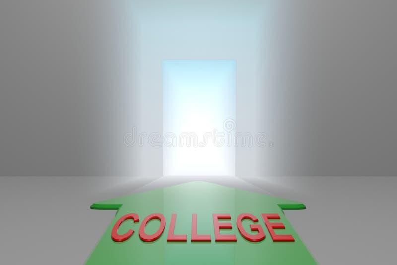 Université à la porte ouverte illustration de vecteur