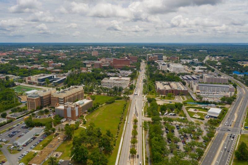 Université aérienne de photo de bourdon de la Floride Gainesville photos stock