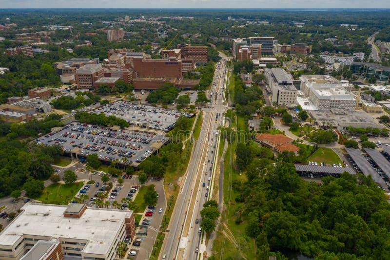 Université aérienne de photo de la Floride Gainesville image stock