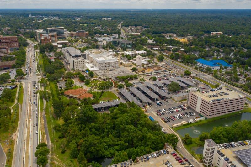 Université aérienne de photo de la Floride Gainesville photo stock