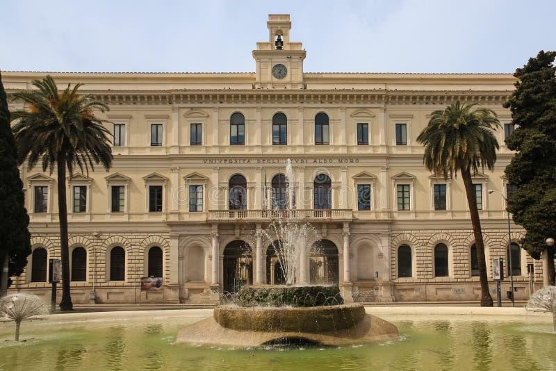 Université Aldo Moro bari Pouilles ou la Puglia l'Italie photo stock