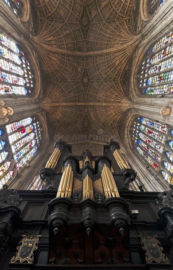 Université de Cambridge d'université de rois de choeur image stock