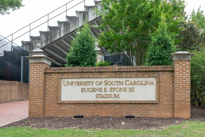 Université de Carolina Eugene du sud E Stade de la pierre III photos libres de droits