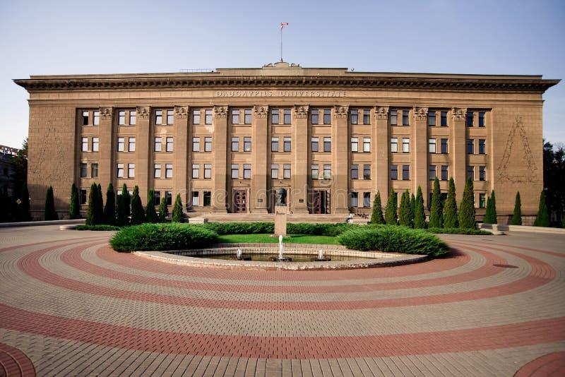 Université de Daugavpils de la Lettonie photos stock
