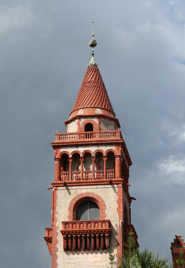 Université de Flagler à St Augustine historique photo stock