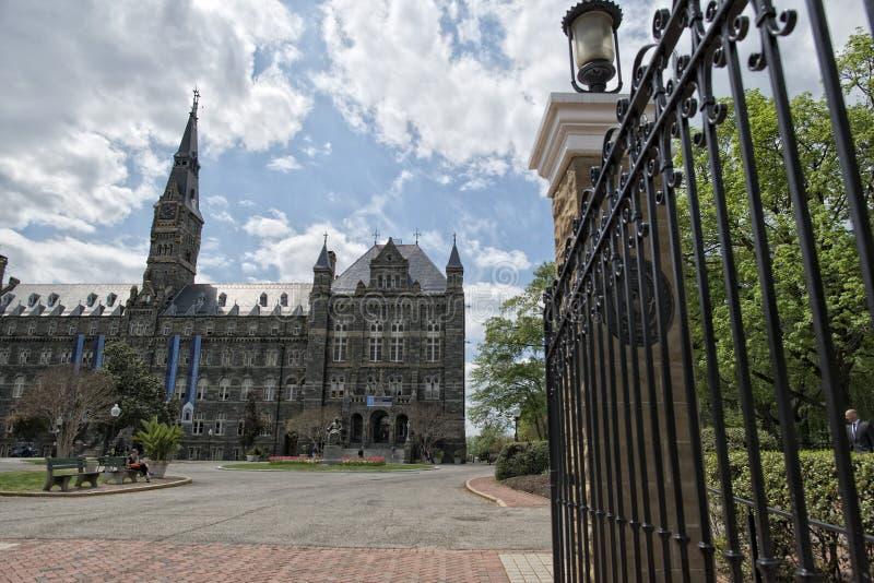 Université de Georgetown dans le Washington DC images libres de droits