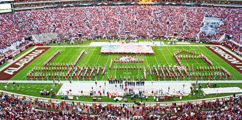 Université de l'Alabama million de bande du dollar pregame photo stock
