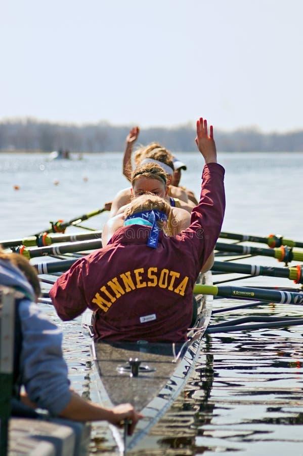 Université de l'aviron du Minnesota images libres de droits