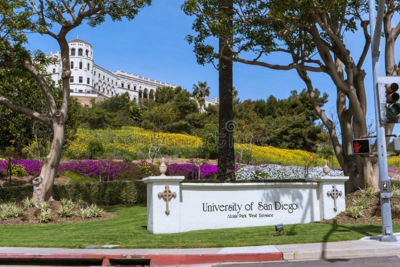 Université de l'entrée de San Diego Campus images libres de droits