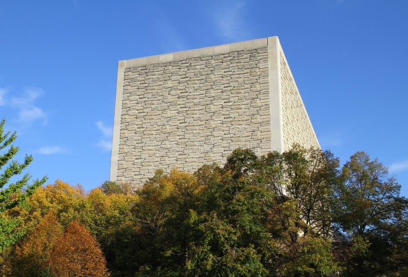 Université de l'Indiana de bibliothèque de puits de Herman B photographie stock libre de droits