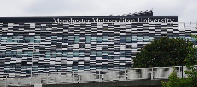 Université de la métropolitaine de Manchester image stock