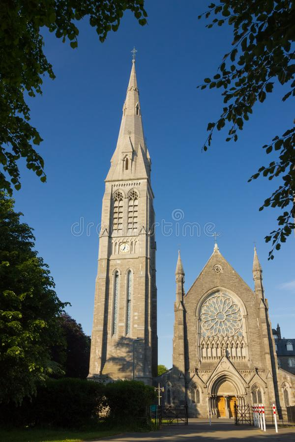 Université de Maynooth Chapelle et horloge comté Kildare l'irlande photographie stock