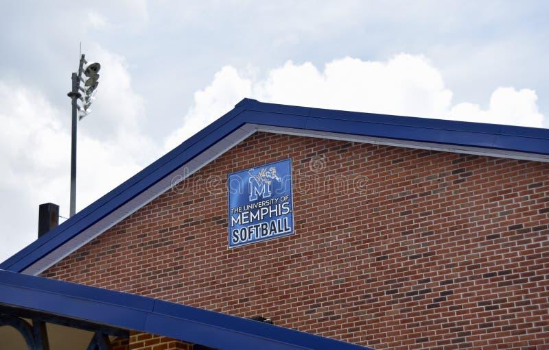 Université de Memphis Softball Facility, Memphis, TN photo stock