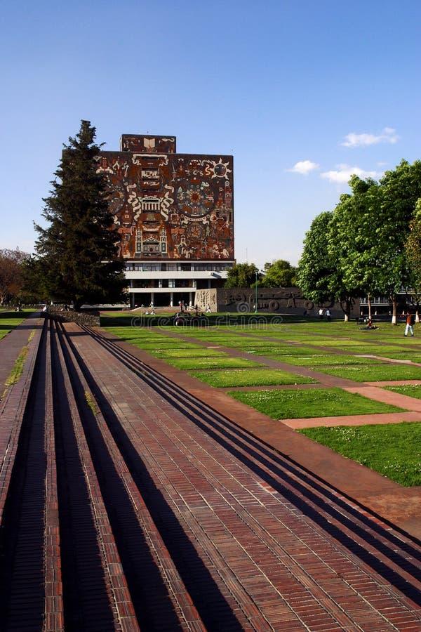 université de national du Mexique de bibliothèque image libre de droits