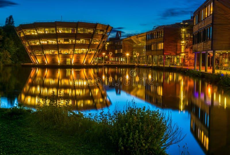 Université de Nottingham en Angleterre images stock