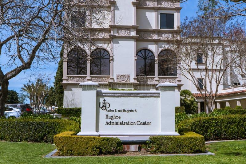 Université de San Diego Campus image stock
