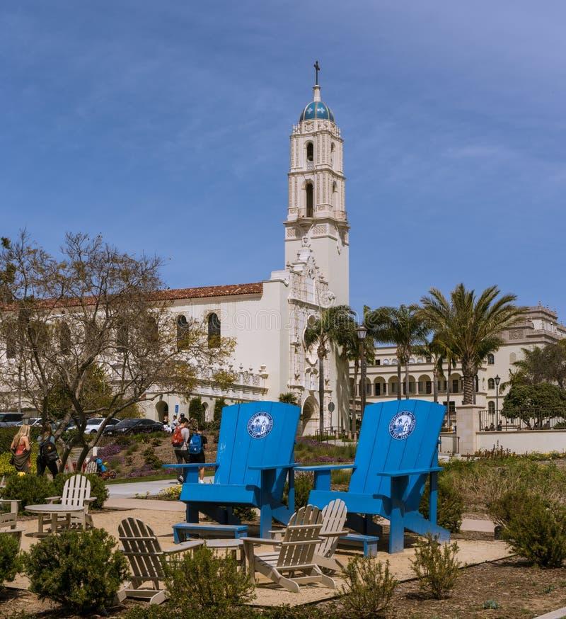 Université de San Diego Campus, l'église d'Immaculata image libre de droits