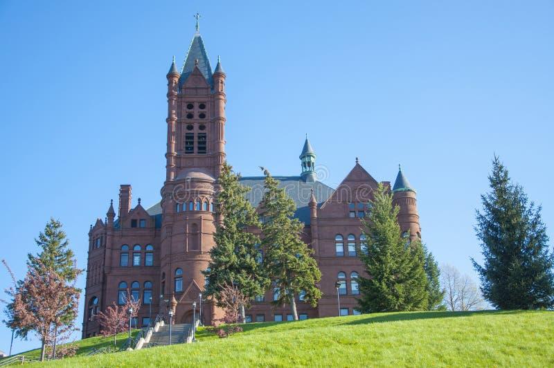 Université de Syracuse, Syracuse, New York, Etats-Unis photo libre de droits
