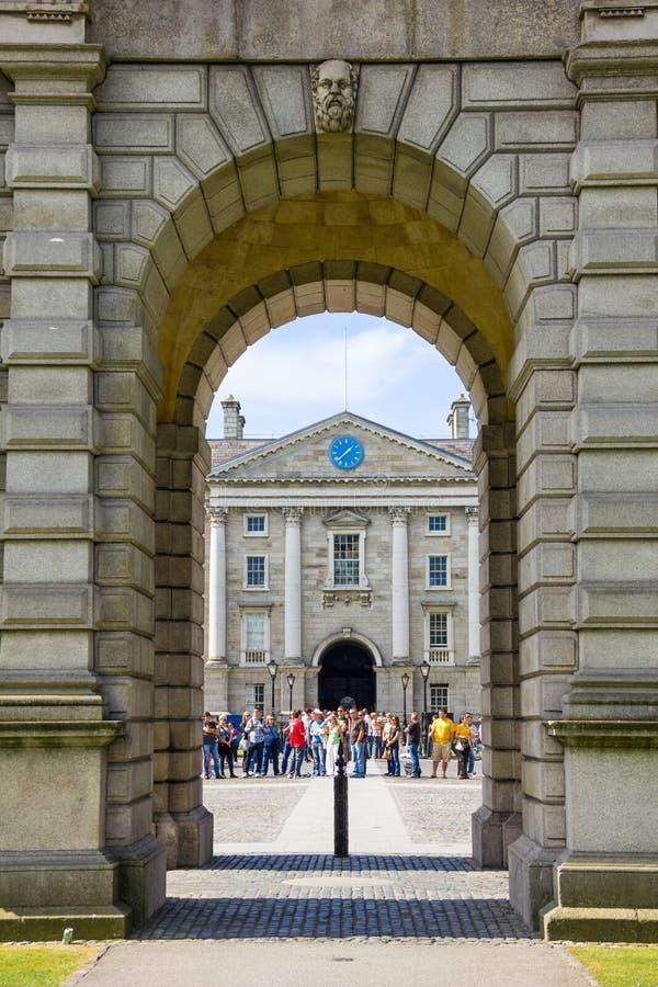 Université de trinité Regent House Horloge dublin l'irlande image stock